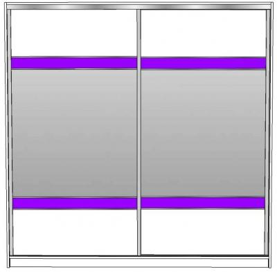 APRIL 225 klizni ormar s ogledalima i 2x crte sjaj JAV