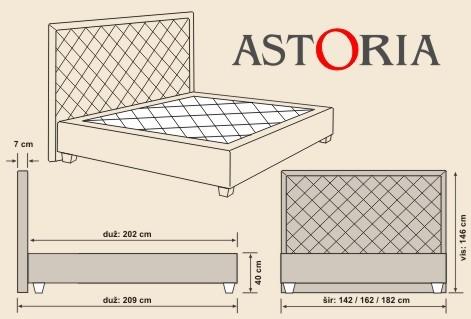 ASTORIA tapecirani krevet Hespo