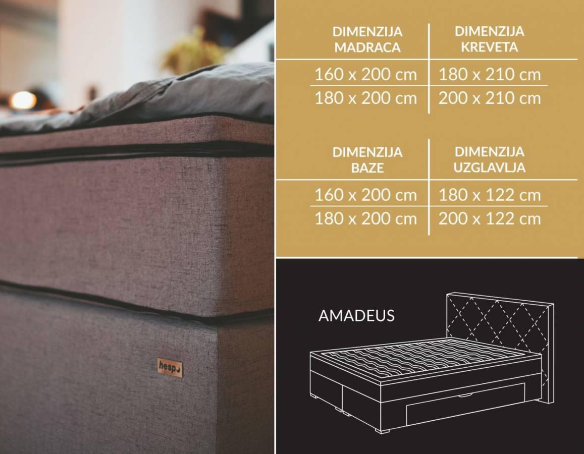 AMADEUS tapecirani krevet Hespo