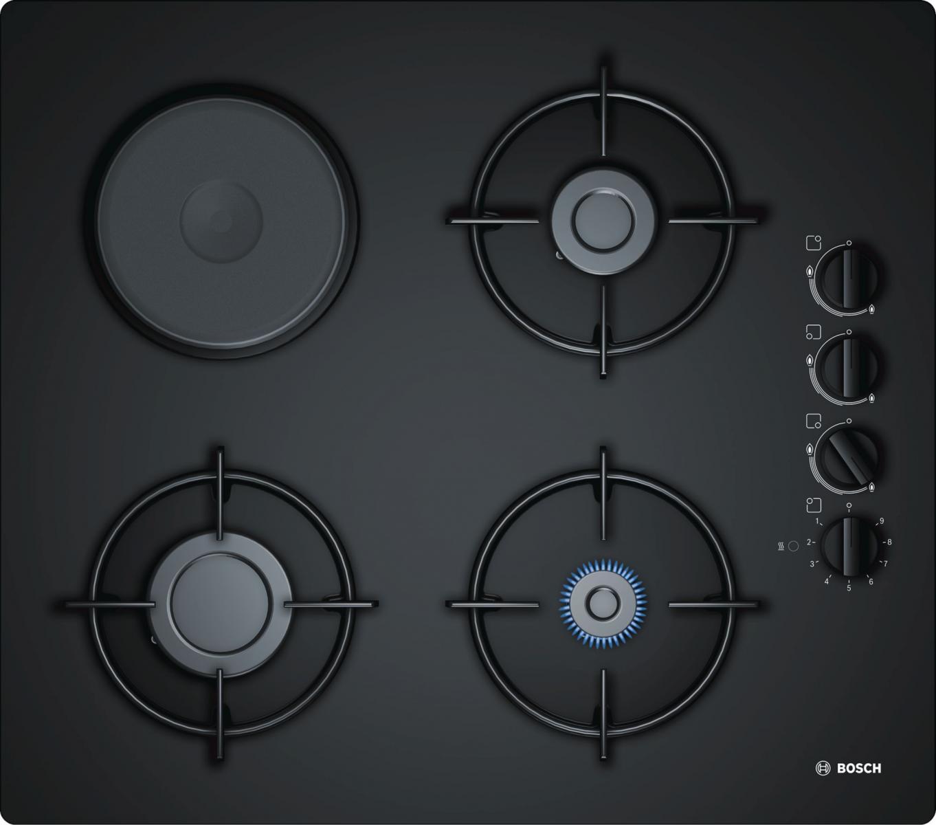 POY6B6B10 kombinirana ploča za kuhanje na kaljenom staklu Bosch