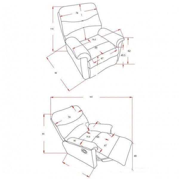 WEST električna relax fotelja FOR