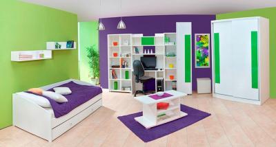 HAPPY bijela složiva mladenačka soba Matis