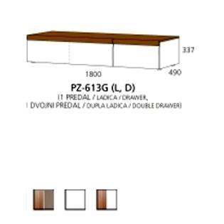 PZ-613G (L,D) niski element - 1 ladica,1 dupla ladica Prizma Alples