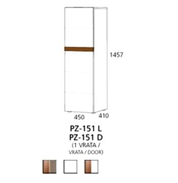 PZ-151 (L, D) srednji element - 1 vrata Prizma Alples