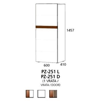 PZ-251 (L, D) srednji element - 1 vrata Prizma Alples