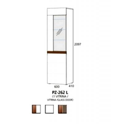 PZ-262 L visoki element - 1 vitrina Prizma Alples