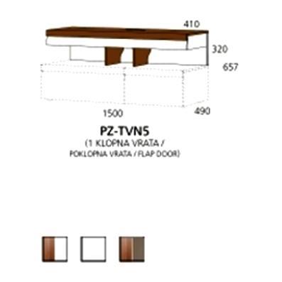 PZ-TVN5 TV nastavak - 1 poklopna vrata Prizma Alples