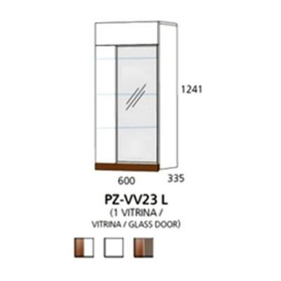 PZ-VV23 L viseći element - 1 vitrina Prizma Alples