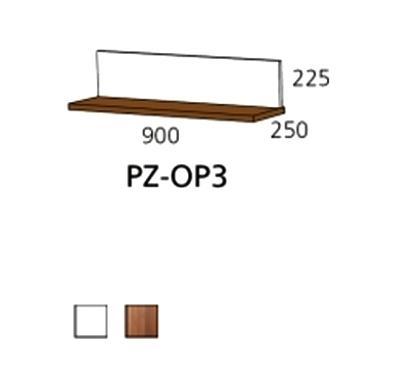 PZ-OP3 zidna polica Prizma Alples