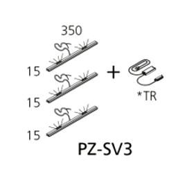 PZ-SV3 svjetiljka vitrine s transf. (3 kom.) Prizma Alples