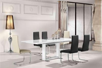NIKA razvlačni stol 160(+60)x90xV76cm bijeli VS