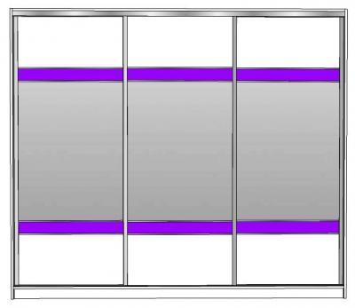 APRIL 260 klizni ormar s ogledalima i 2x crte sjaj JAV