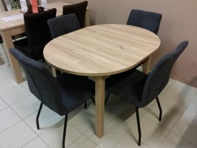 MASIVA LUX OVAL razvlačni stol 120x90 (+40) JAV