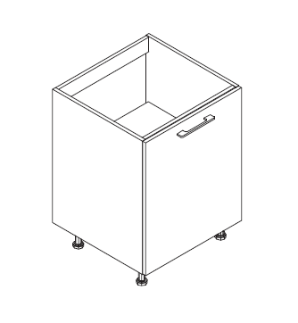 VIG50/60 DOSI element za sudoper, 1 vrata VIGGO