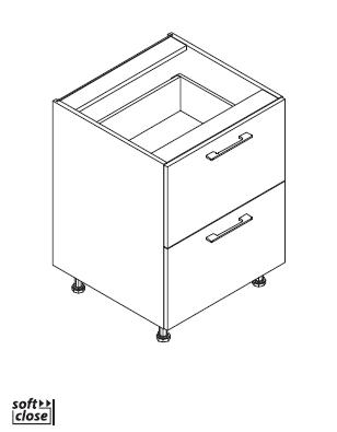 VIG60/80/90 L2SI element, 2 duboke ladice VIGGO