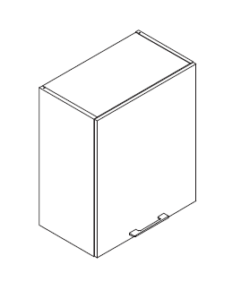 VIG60VEINI gornji element za izvlačnu napu, 1 vrata VIGGO
