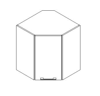 VIG60VEKI gornji kutni element, 1 vrata VIGGO