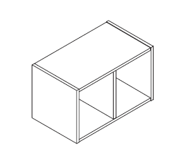 KOR60/90 BOVI horizontalni gornji otvoreni element VIGGO