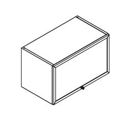 VIG60/80 VEPSTA gornji podizni element, staklo s aluminijskim okvirom, 1 vrata VIGGO