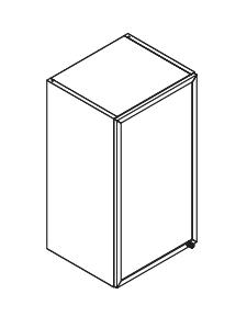 VIG40VESTA gornji element, staklo s aluminijskim okvirom, 1 vrata VIGGO