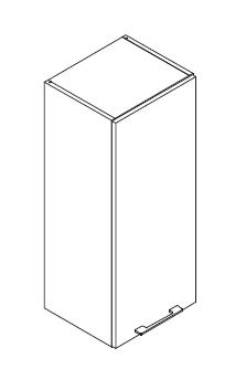 VIG40VEVI gornji element visine 96cm, 1 vrata VIGGO