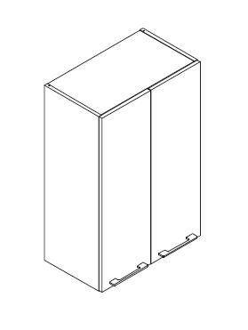 VIG60/80 VEVI gornji element visine 96cm, 2 vrata VIGGO
